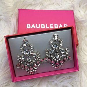 Baublebar crystal drop chandelier earrings NEW